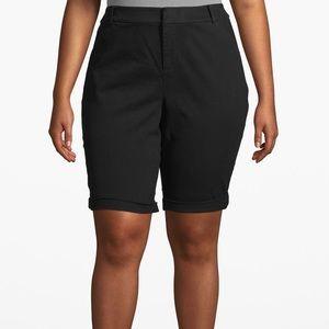 Lane Bryant Black Chino Bermuda Shorts 18